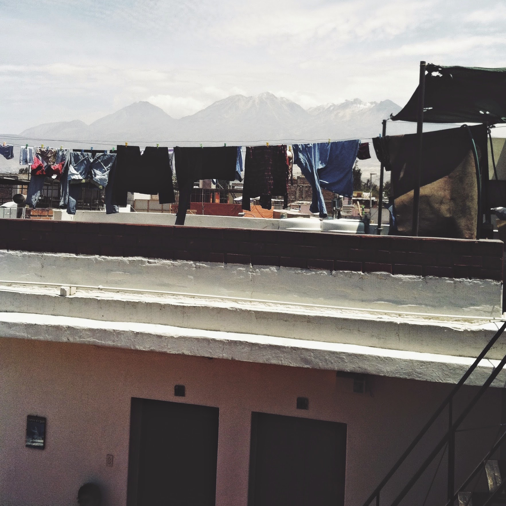 Arequipa, Peru boasts the most epic laundry backdrop to date.