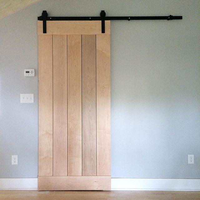 Nice way to spend a Saturday. Install sliding barn doors. #design #interiordesign