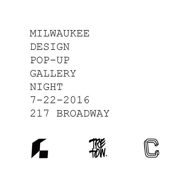 We are proud to be hosting a pop-up gallery for Third Ward Gallery Night with @ryantretow and @commonplaceshop. We will be right above Swig from 5-9 on Friday. Stop by and check out Milwaukee design.