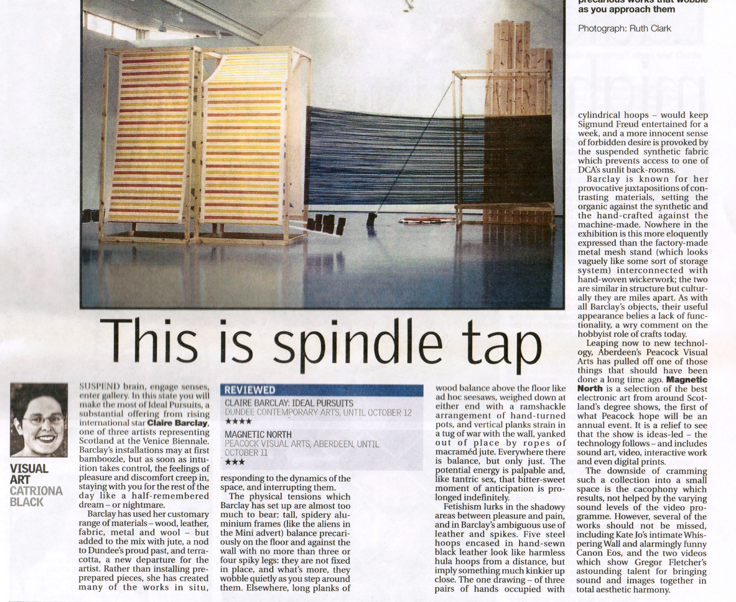 Sunday Herald Magnetic North Review 7 Sept 2003.jpg