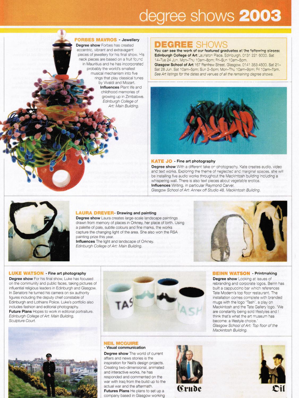 The List Degree Show June 2003.jpg