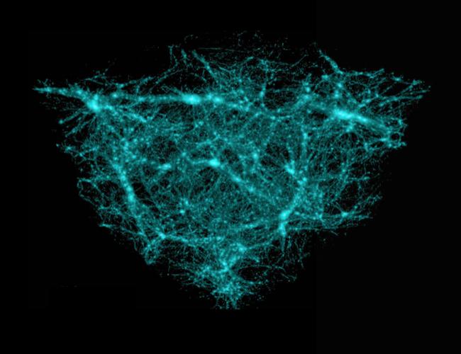 Rendering of dark matter.