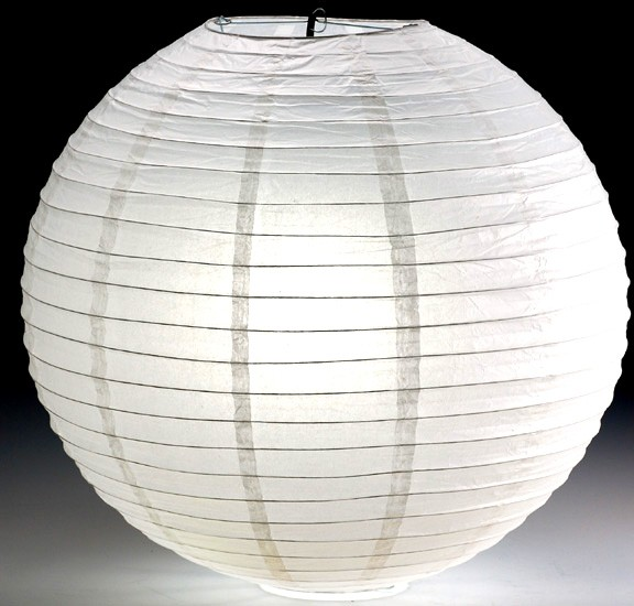A paper lantern acted as a key light for the interviews.
