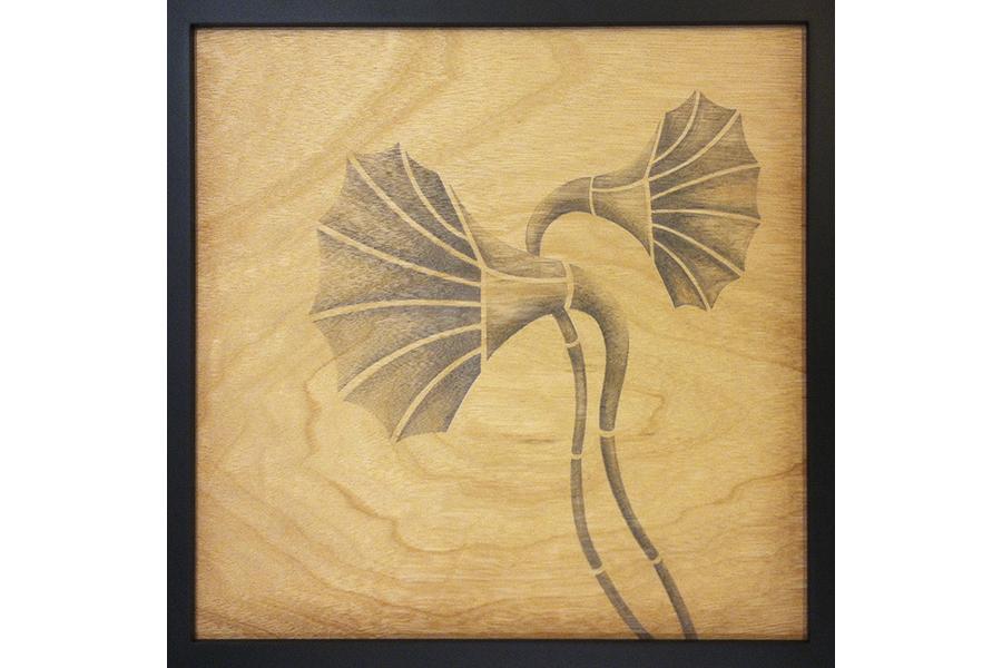"Darrell   graphite on wood panel 13""x13""  2012"