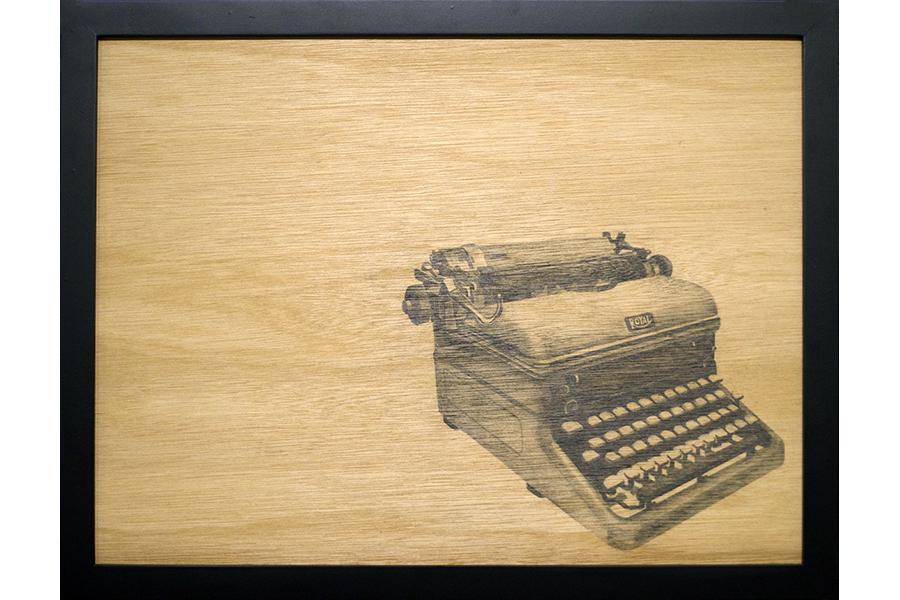 """Royal,   graphite on wood panel, 13""""x17"""", 2013"""