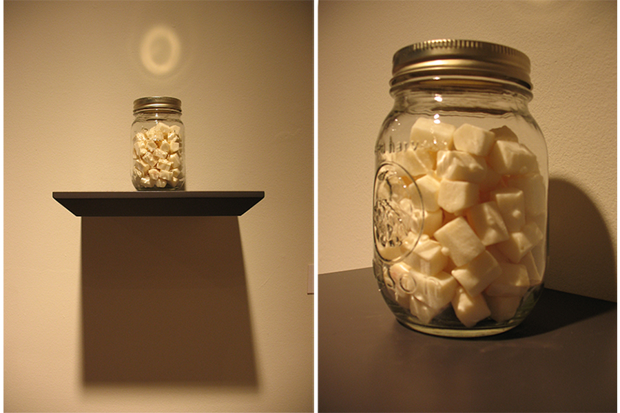 """Canned and Preserved 2 mason jar, cast soap, and shelf, 8""""x 12""""x 6"""""""