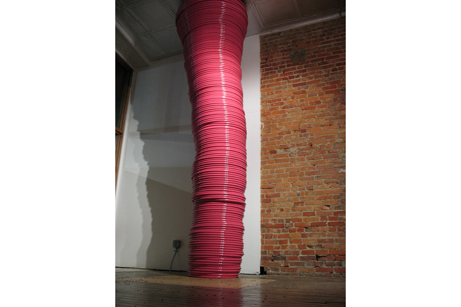 Forces of Nature: tornados and Hula Hoops , 2007 Installed at The Sculpture Center, Cleveland, Ohio