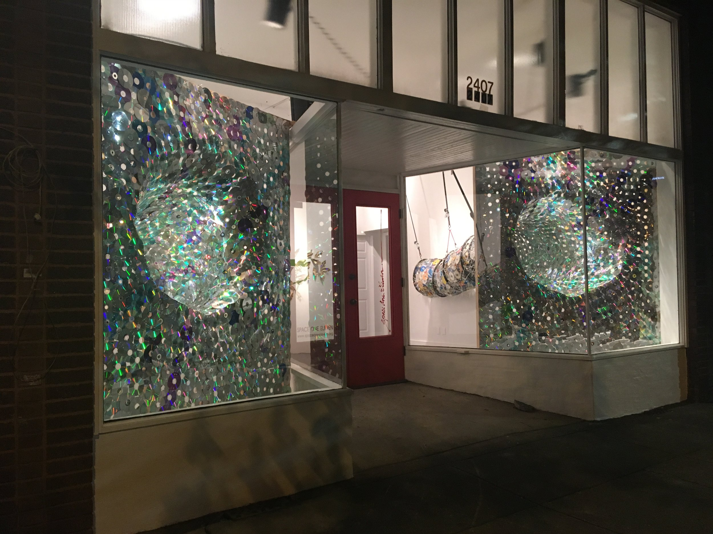 Through Glass , 2018  Installed at  Space One Eleven  March 4-8, 2018