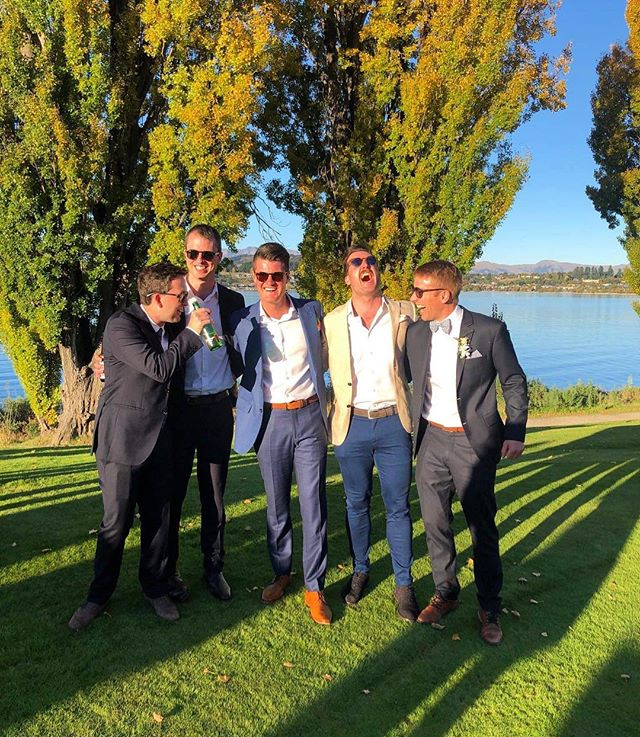 An absolute belter with these blokes - Congrats to Mr and Mrs Red #GetWedtoBigRed