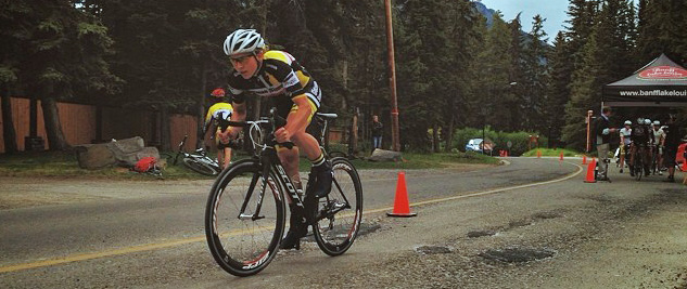 Alison sprints out of the gate for the Stage 1 Prologue.