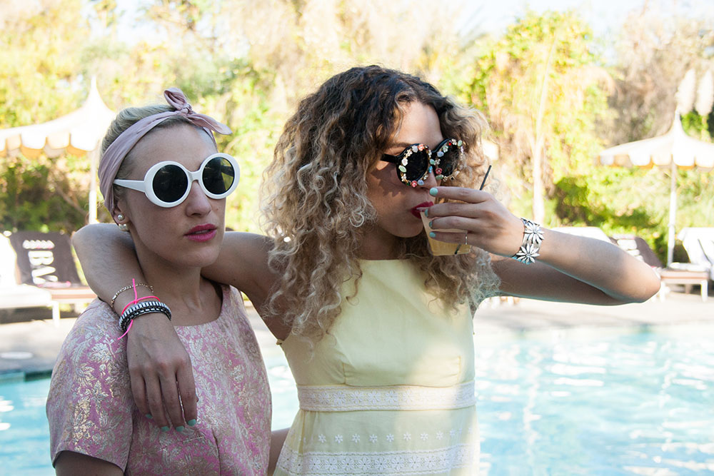 The ultimate festival babes:  DJ Mia Moretti  and Stylist Cleo Wade