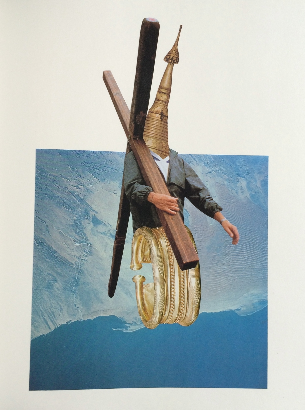 """Oh Heartless Hunger, Stay Within These Painted Lines   11"""" x 14"""" Hand Cut Paper Collage on Vellum Paper"""