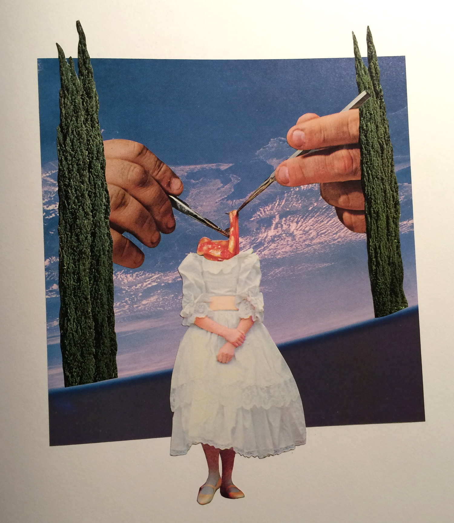 """When You Get To Heaven, God Will Be Waiting To Dismantle Everything You Thought You Knew   11"""" x 15"""" Handcut Paper Collage On Paper"""