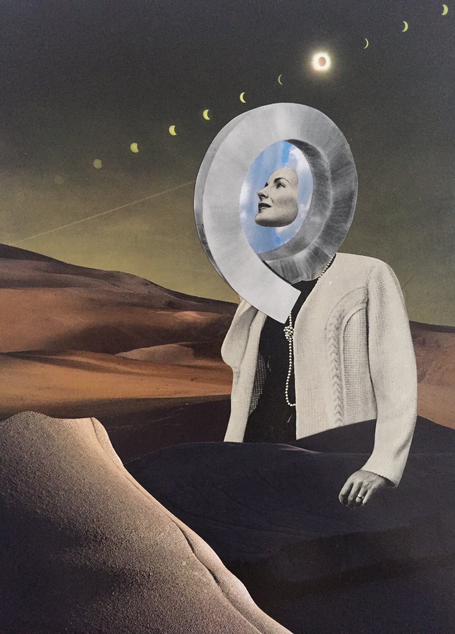 "Beyond This Broken Promise   11"" x 15"" Hand Cut Paper Collage on Cold Press Paper"
