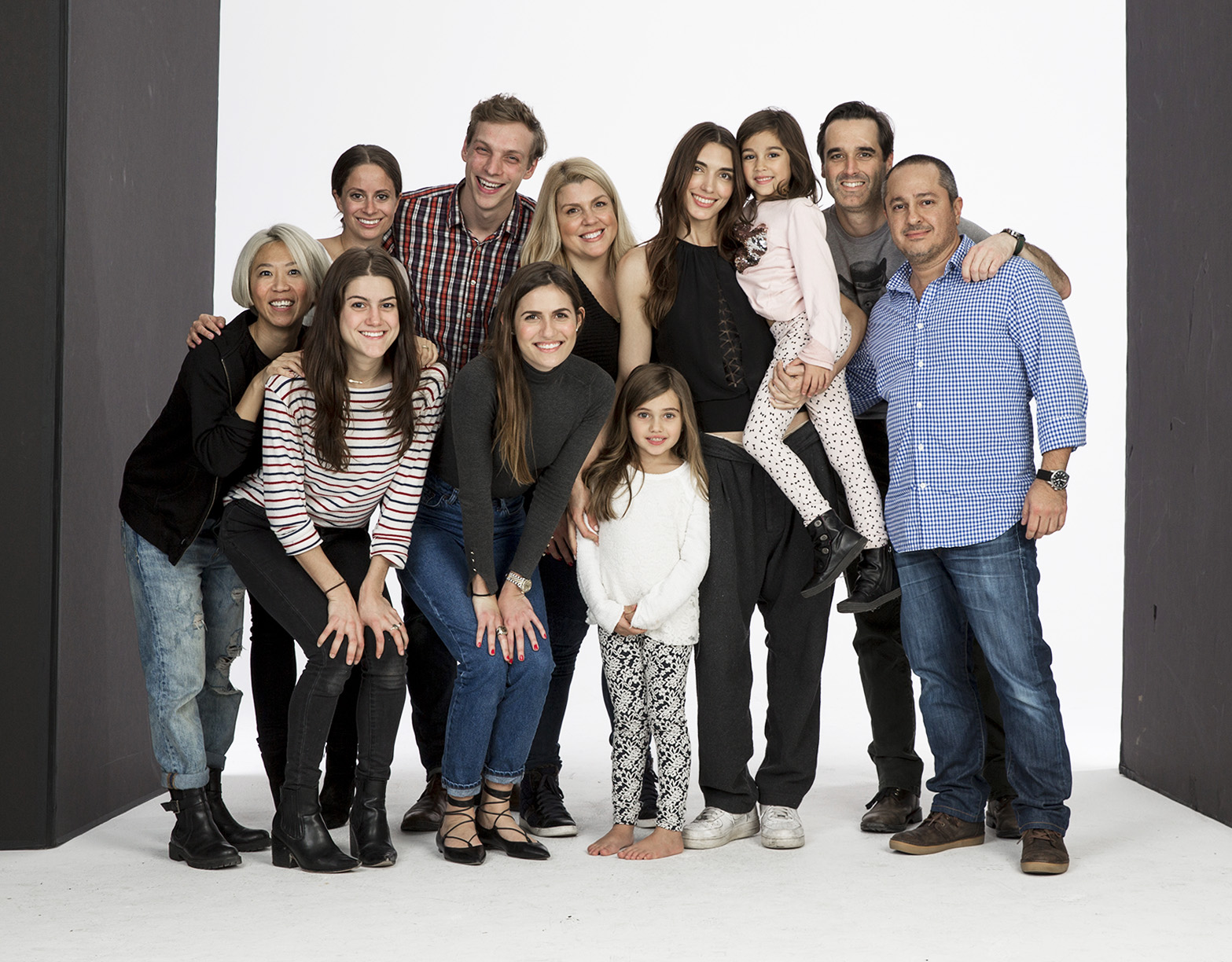 Nick Khazal and team pose for a photo after wrapping a shoot in New York city.