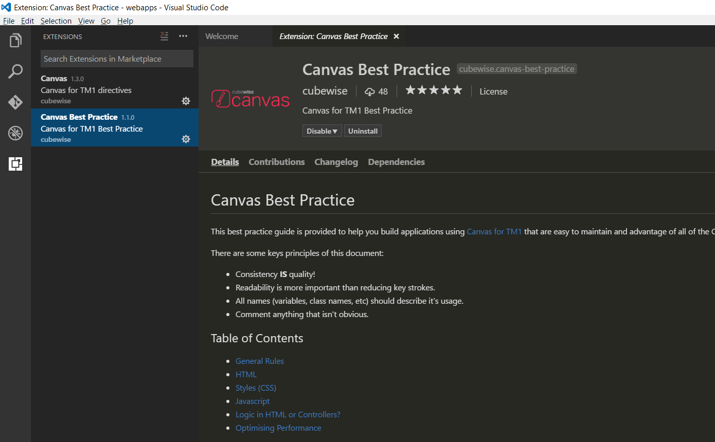 Configuration — Canvas - Help Content - Cubewise CODE