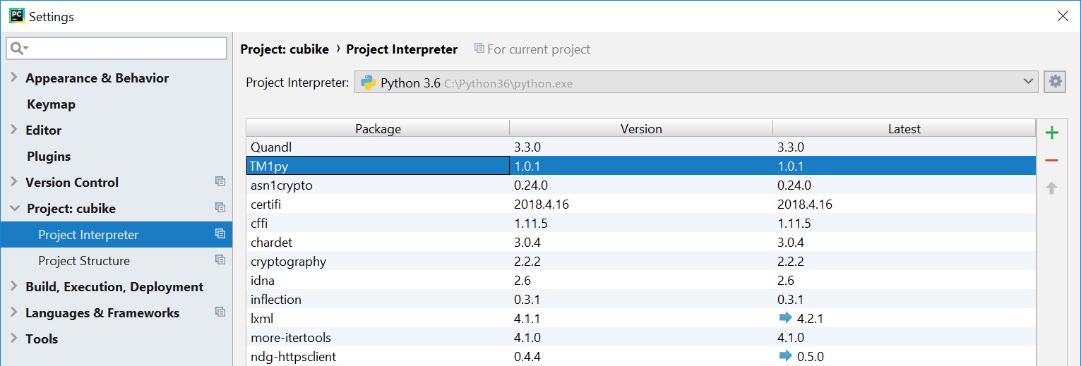 TM1py version pycharm.png