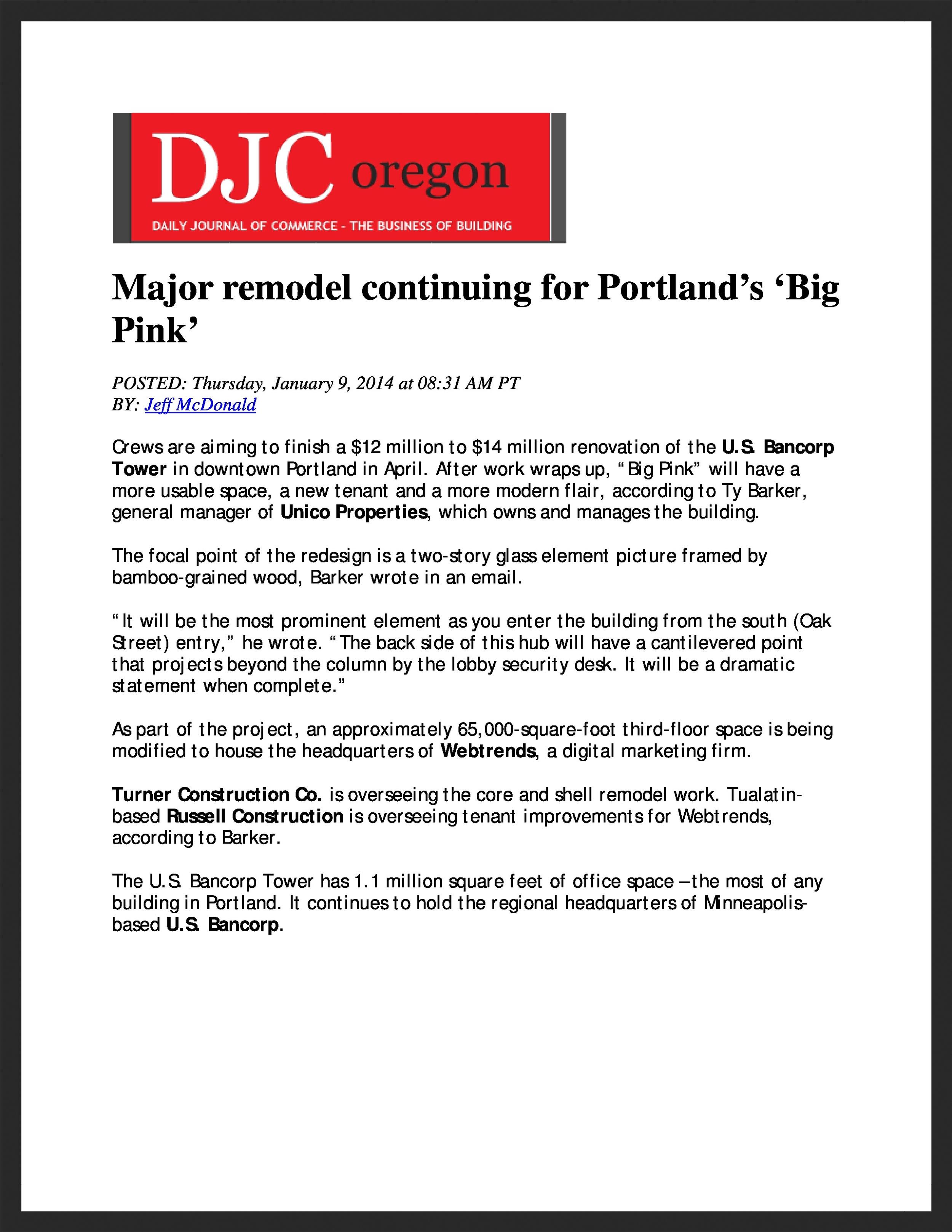 UNICO   DJC Oregon  01.09.2013
