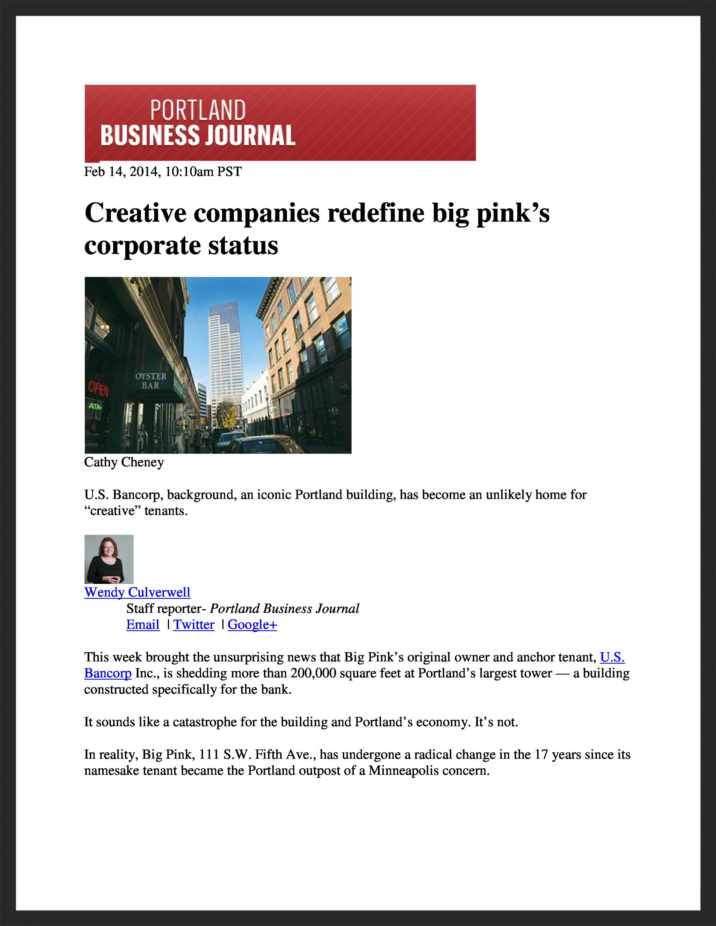 UNICO  Portland Business Journal  02.14.2014