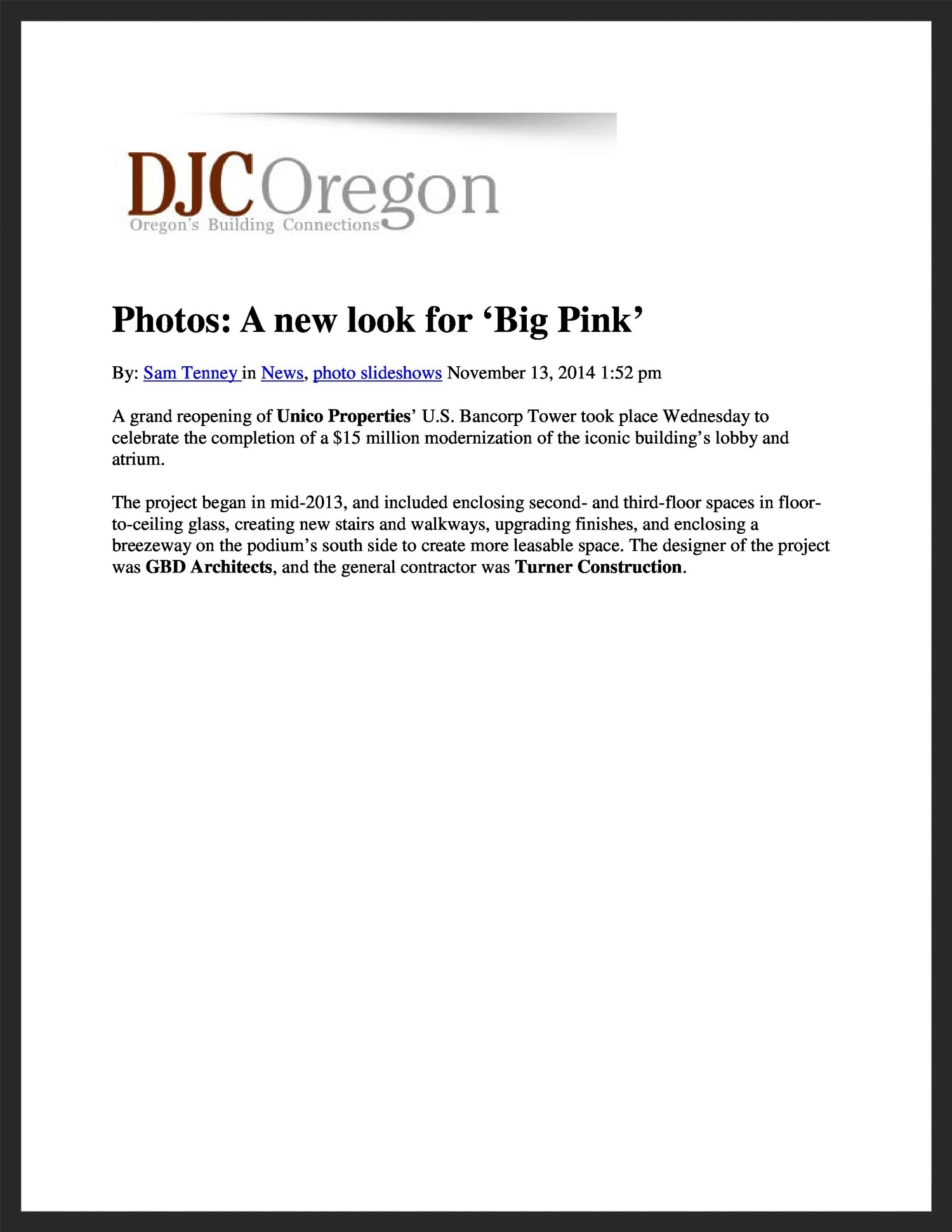 UNICO  DJC Oregon  11.13.2014