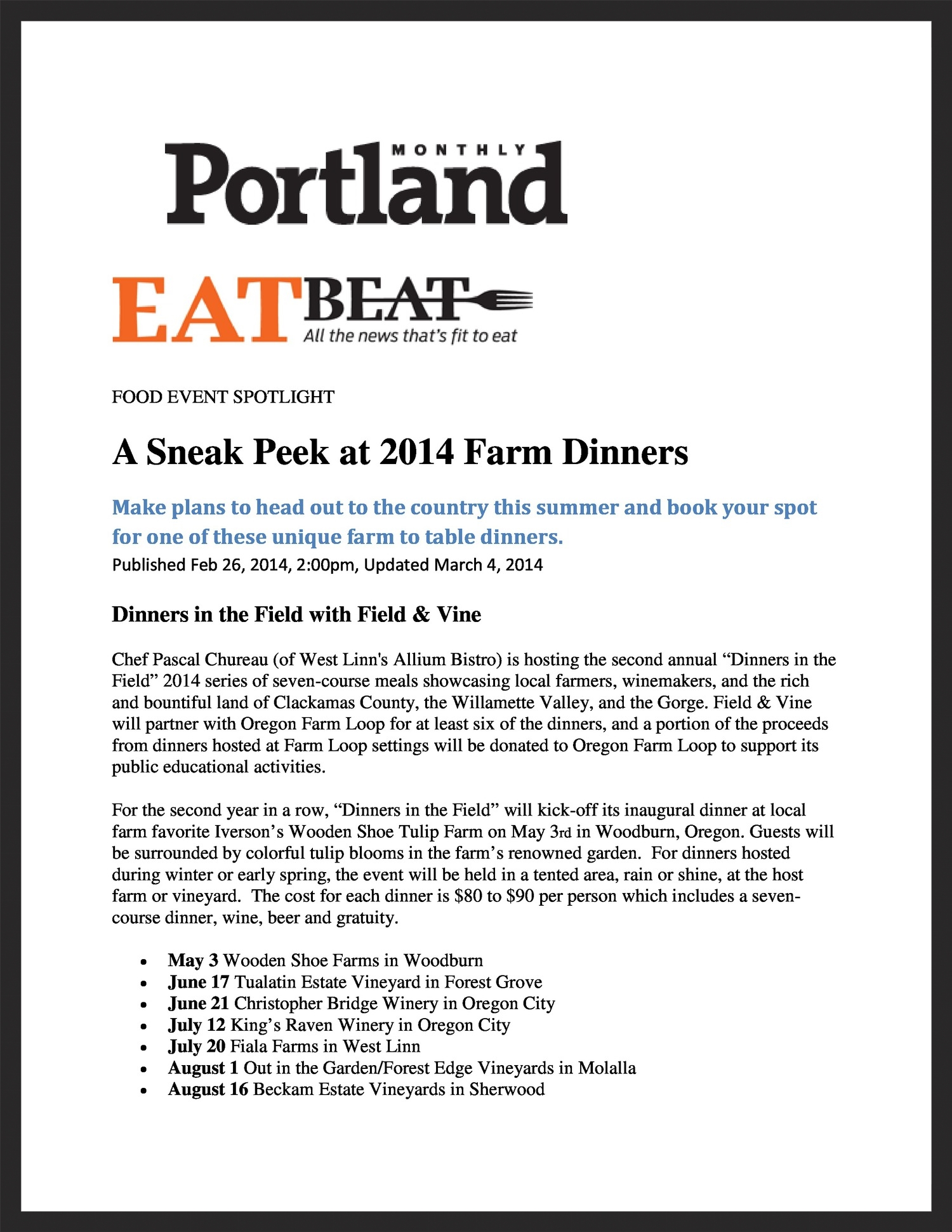 FIELD & VINE  Portland Monthly  03.04.2014