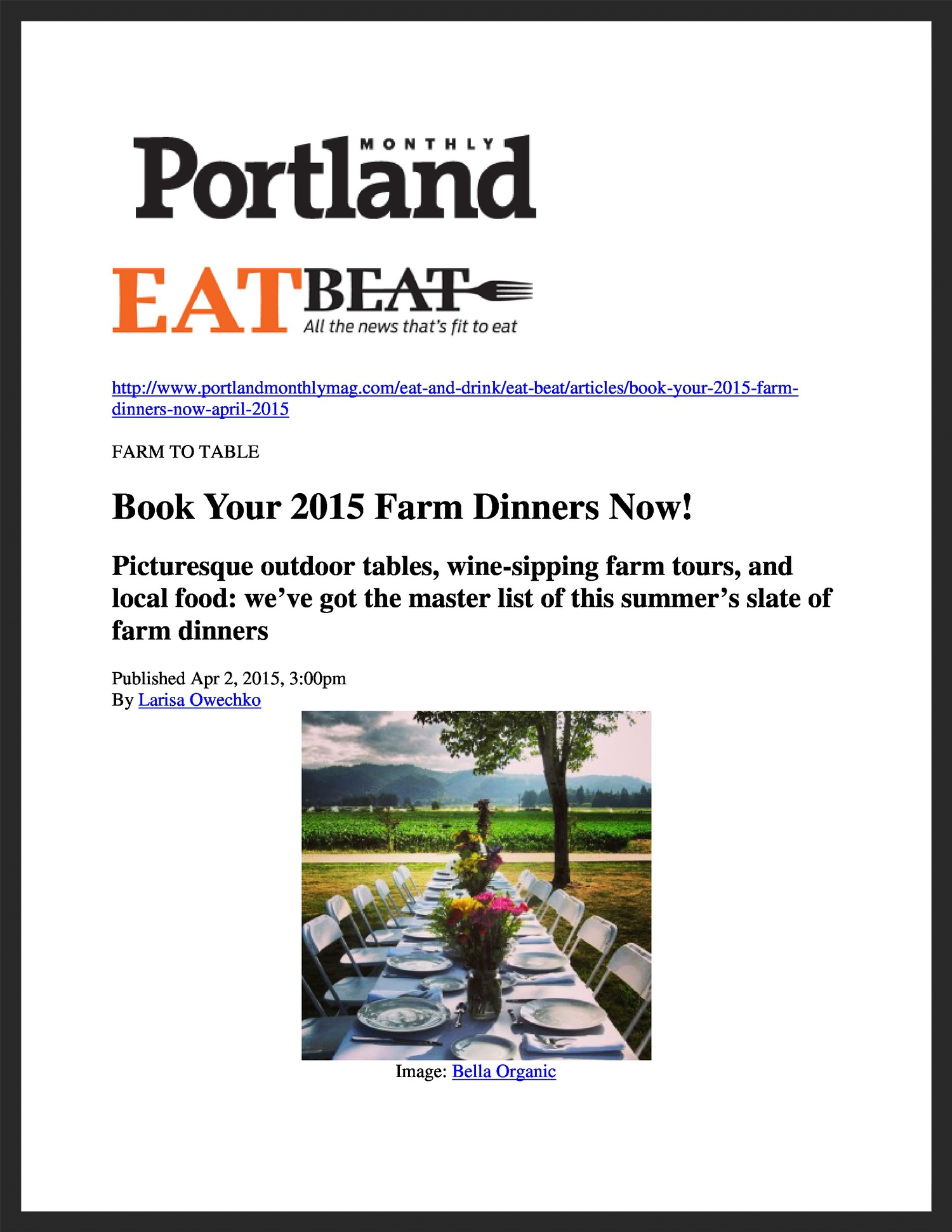 FIELD & VINE  Portland Monthly  04.02.2015
