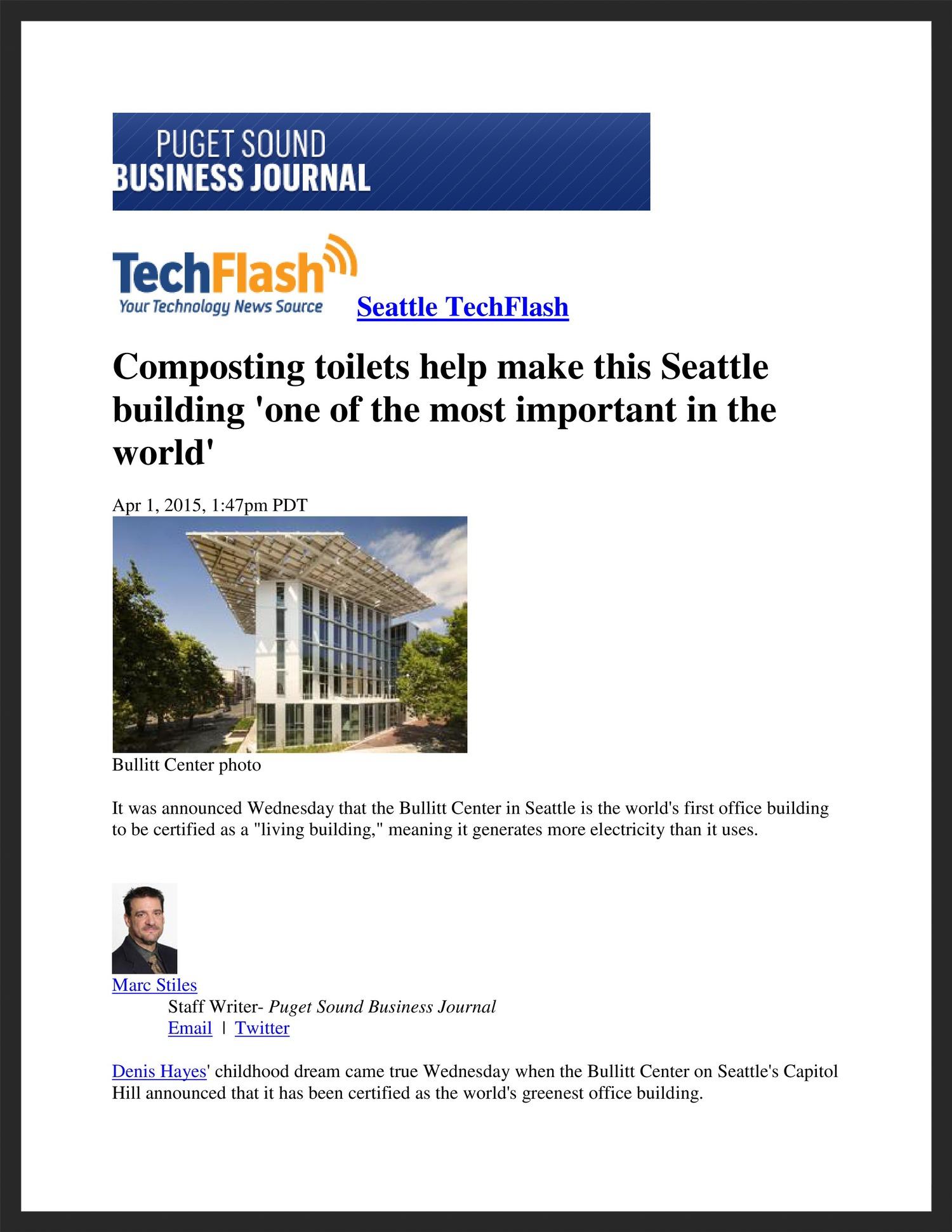 UNICO  Puget Sound Business Journal  04.01.2015