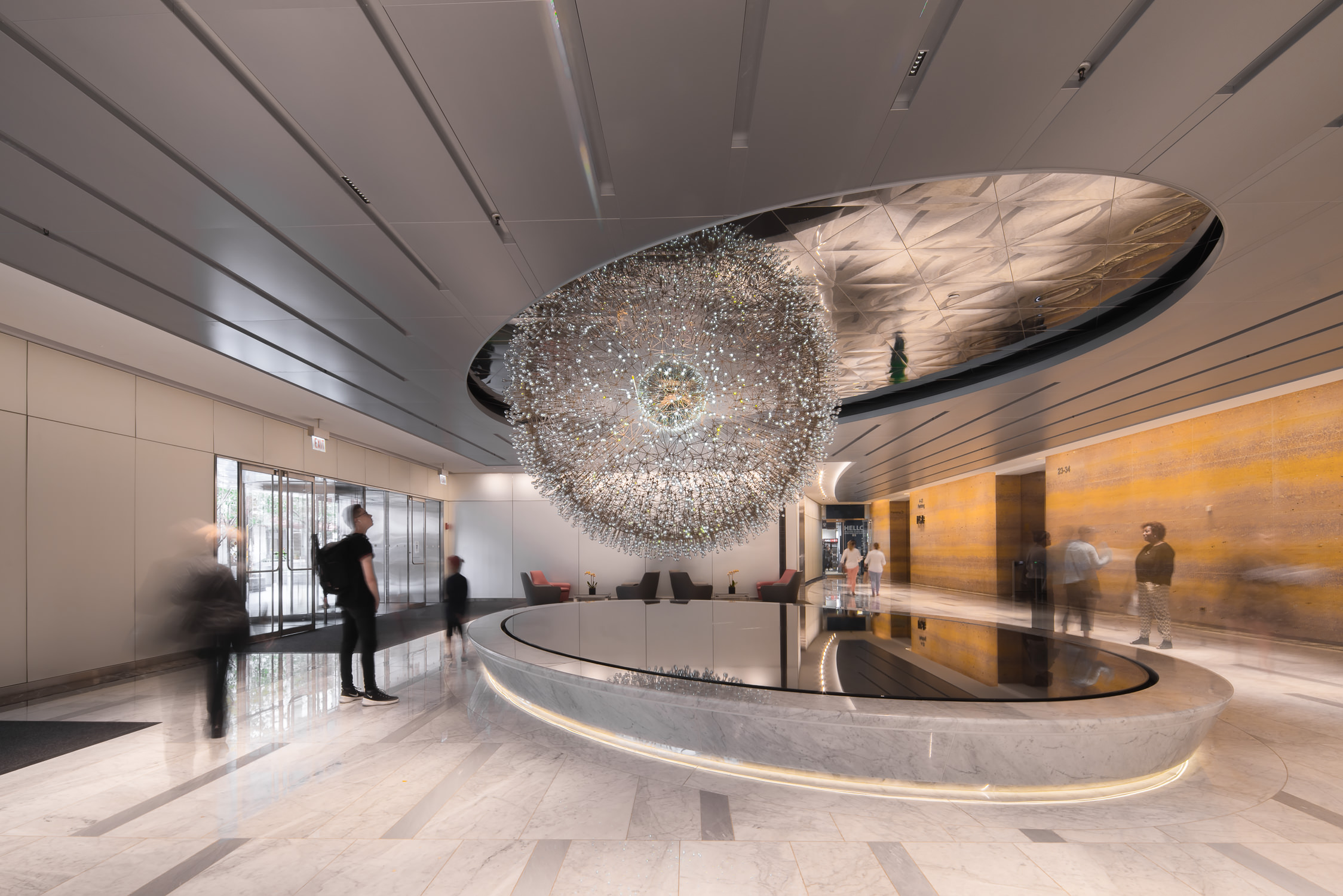 foyer view of lucent chicago by mark hadden architecture photographer