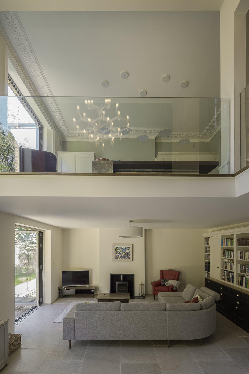 double height living space at granville park by mark hadden architecture photographer, amsterdam
