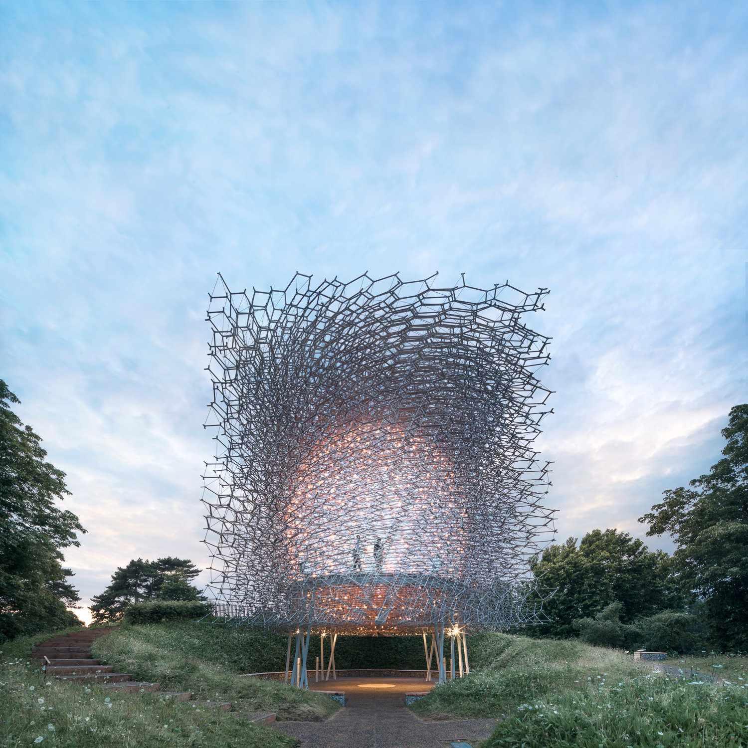 The Hive At Kew. Early Evening. Mark Hadden Architecture Photographer