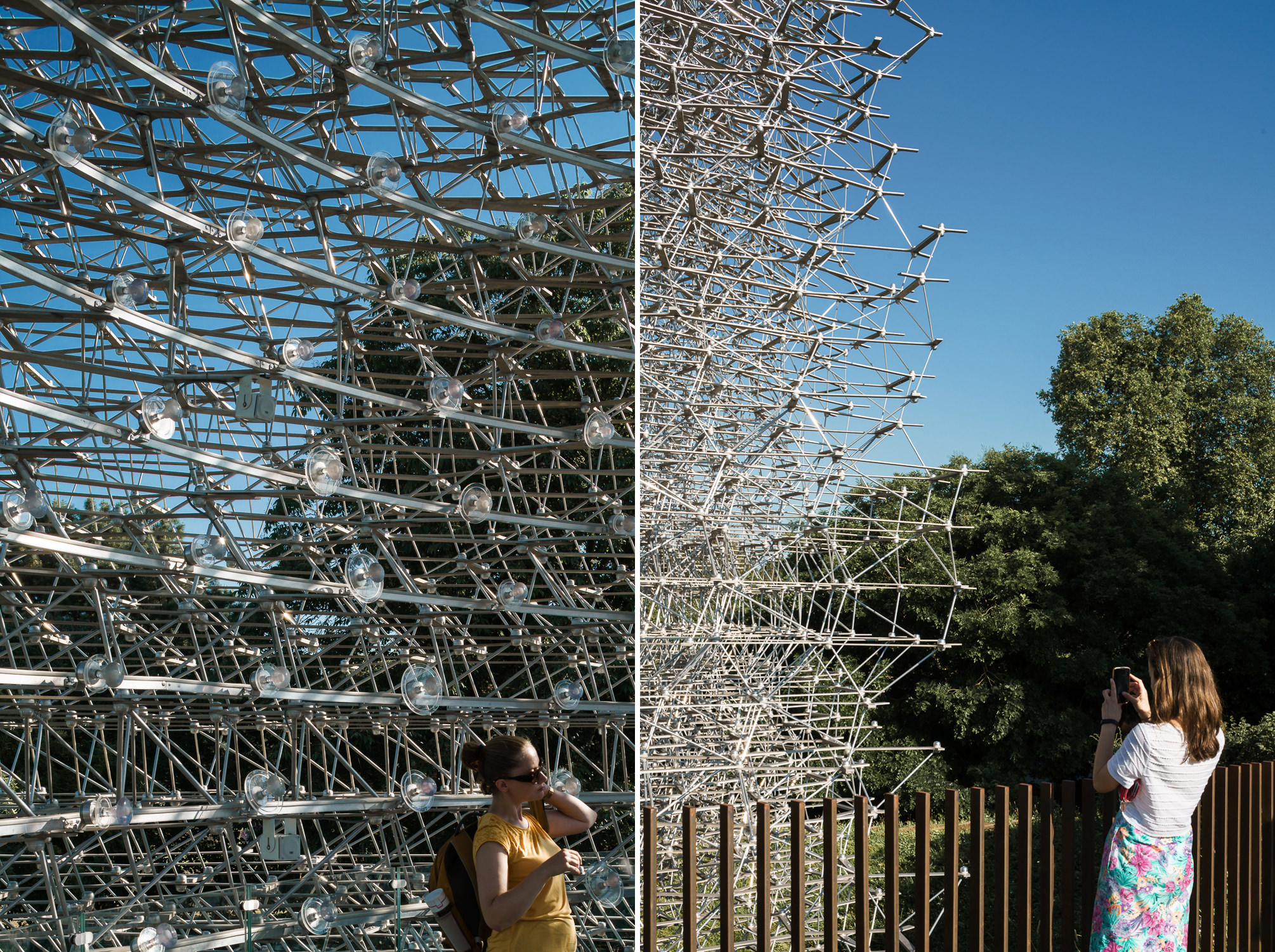 Onlookers at The Hive, Kew Gardens. Mark Hadden Architecture Photographer