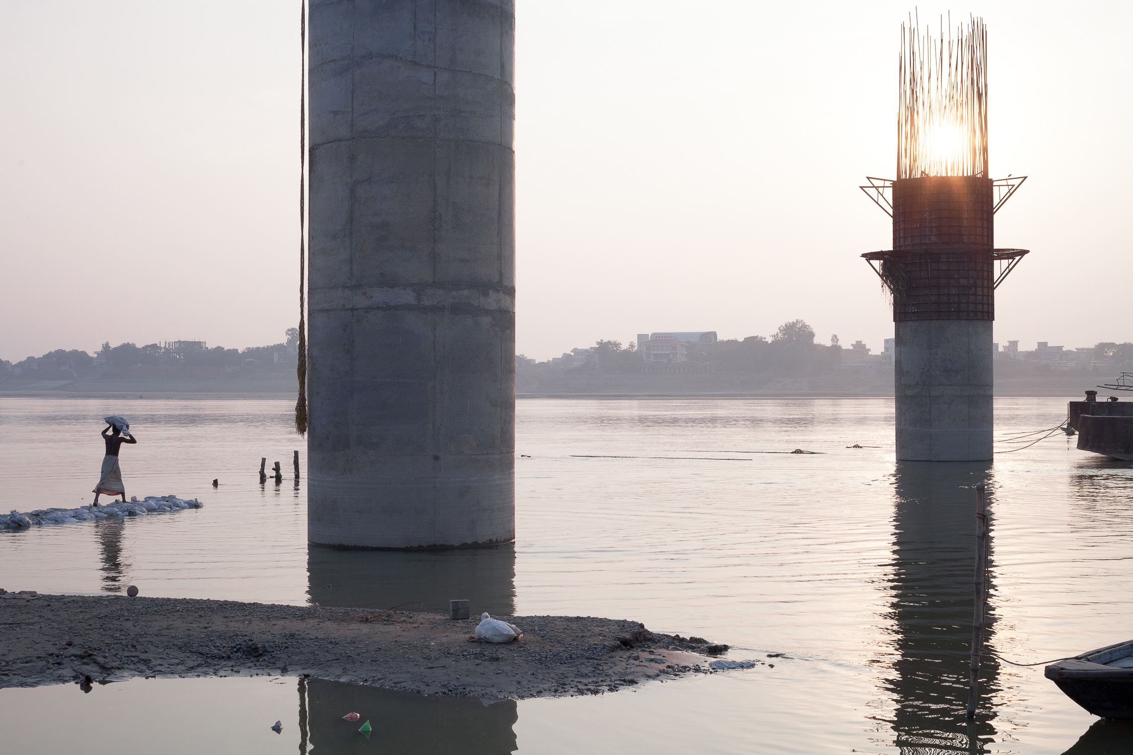 Varanasi River Crossing Architecture Photography London
