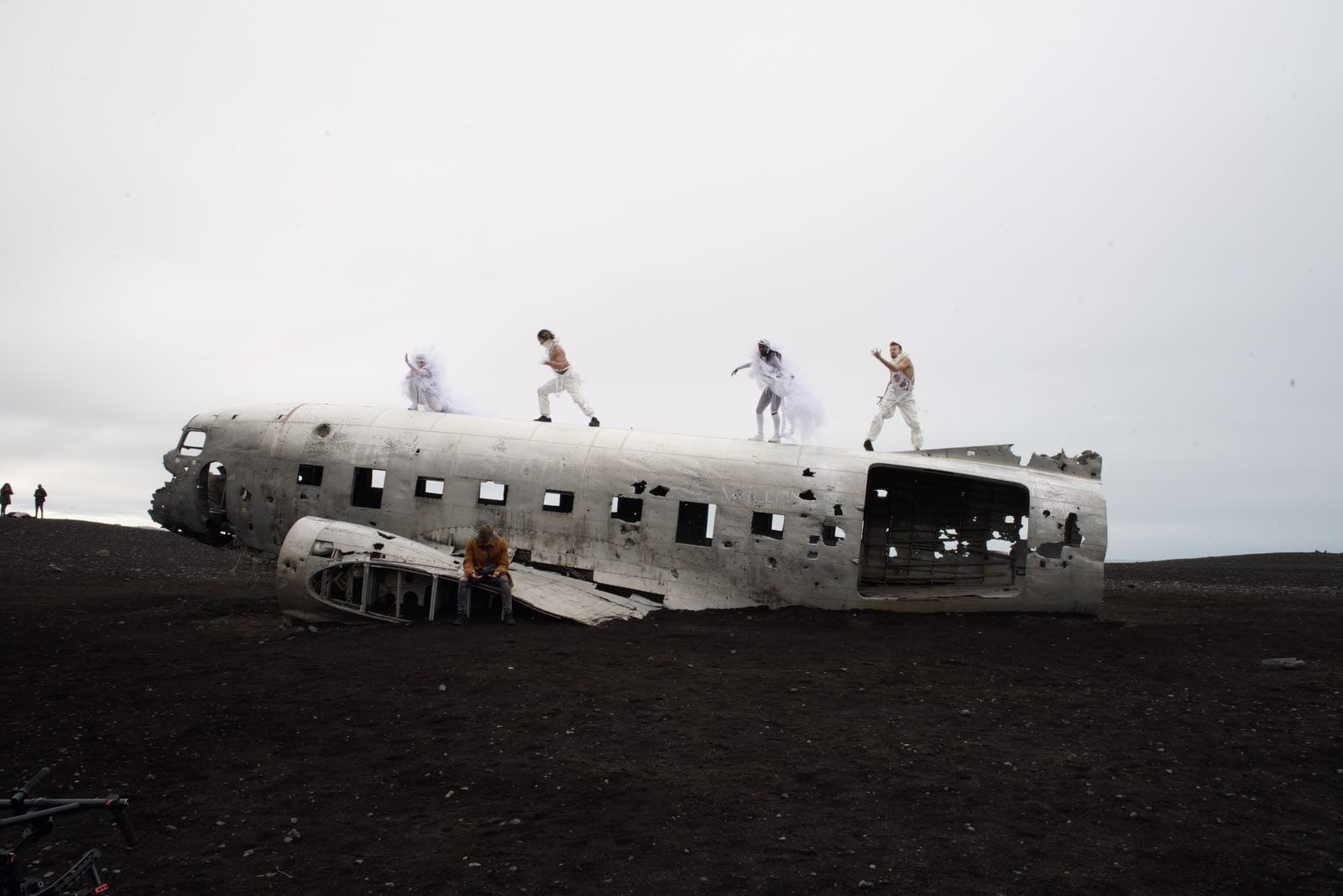 Iceland, airplane wreck from the outside