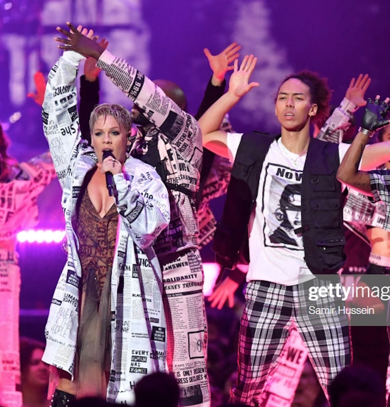 Performing with P!nk at the 2019 Brit Awards
