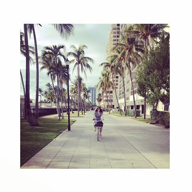 South Beach by bike 🍒