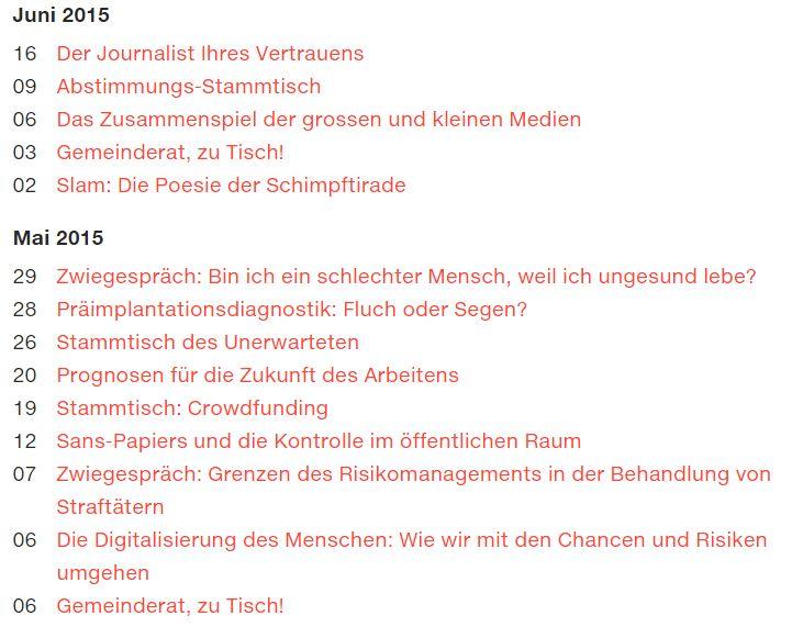 """Programm """"Karl der Grosse"""" Mai / Juni (Link zu Karls Veranstaltungen)"""
