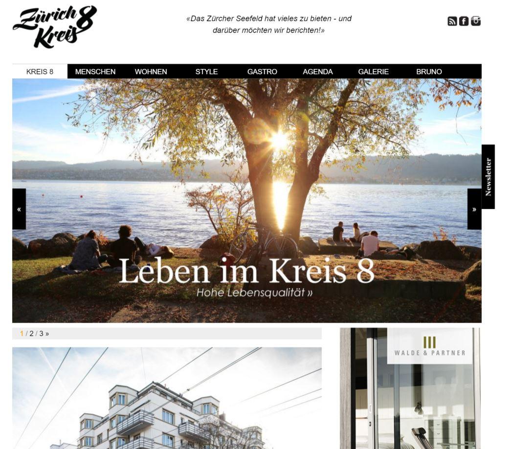 Bild: Screenshot  Zurich Kreis 8