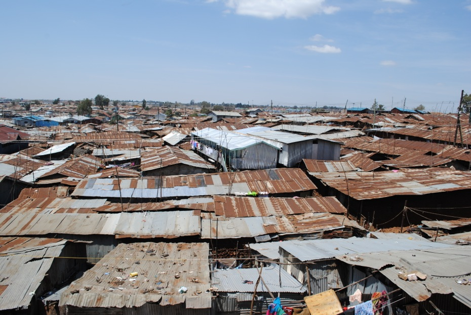 Visiting Kibera in Nairobi, Kenya. Kibera is one of the largest slums in Africa.