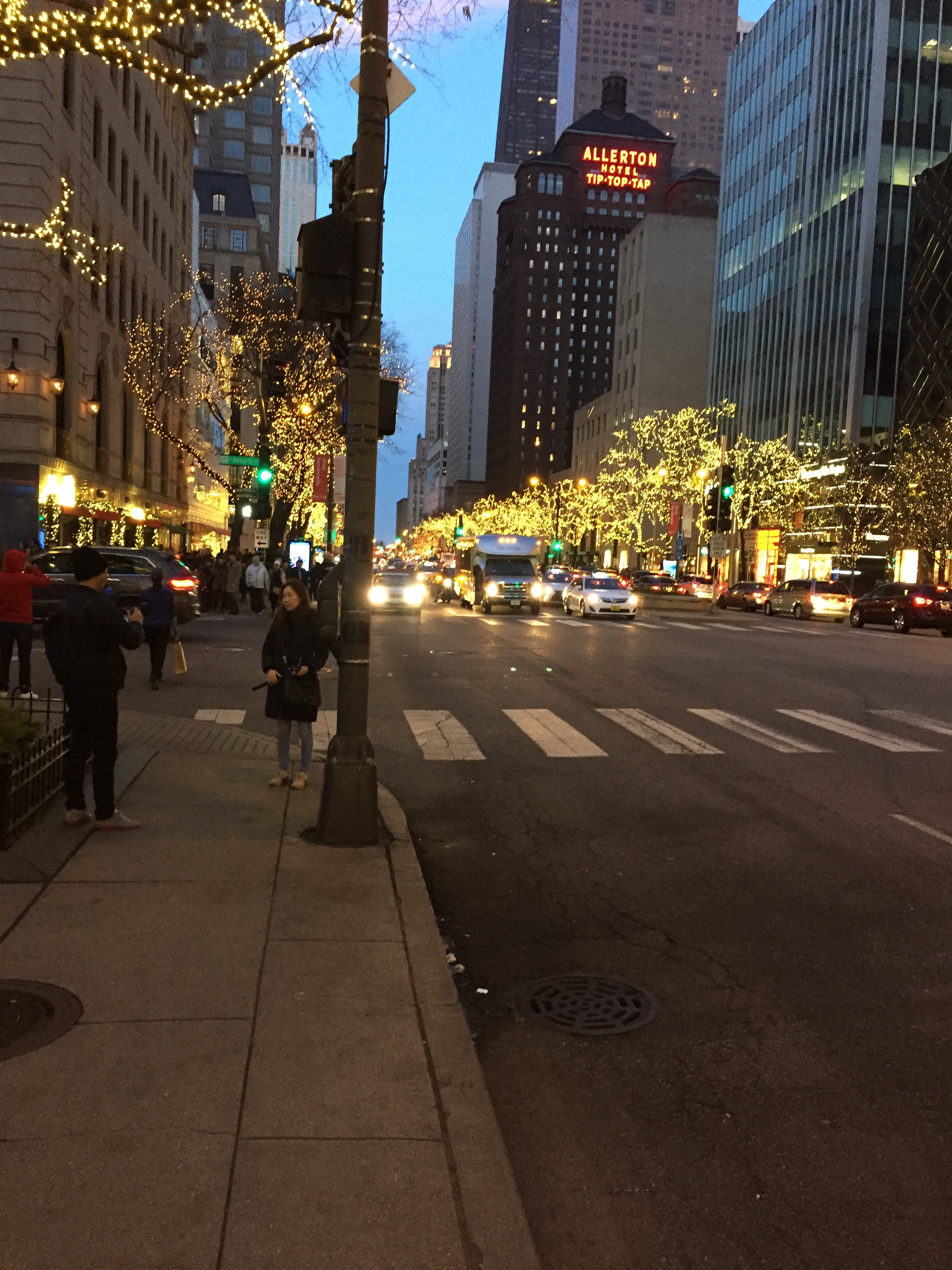 The Magnificent Mile is quite magnificent in December!