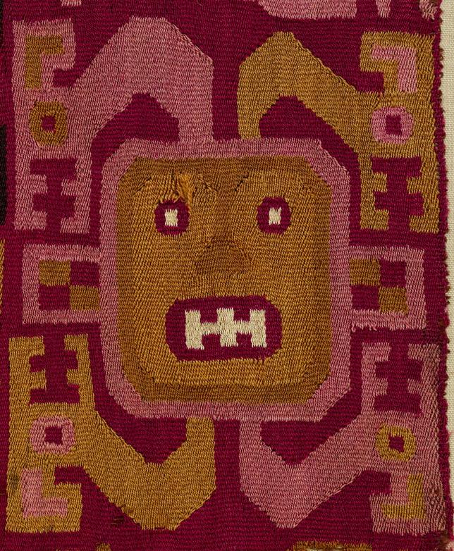 Detail, Recuay Tapestry Fragment, Peru, 4th-6th c. Metropolitan Museum of Art, 1994.35.88.