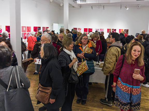 The reception at Noho M55 Gallery