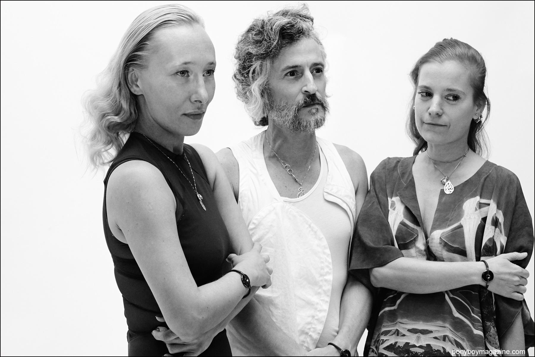 Left to right,Angela Donhauser, Gabriel Asfour, Adi Gil. Photo: Courtesy of  threeASFOUR