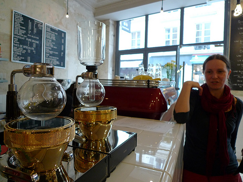 Siphon Coffee Gadgetry at Coutume. Photo by Meg Zimbeck.