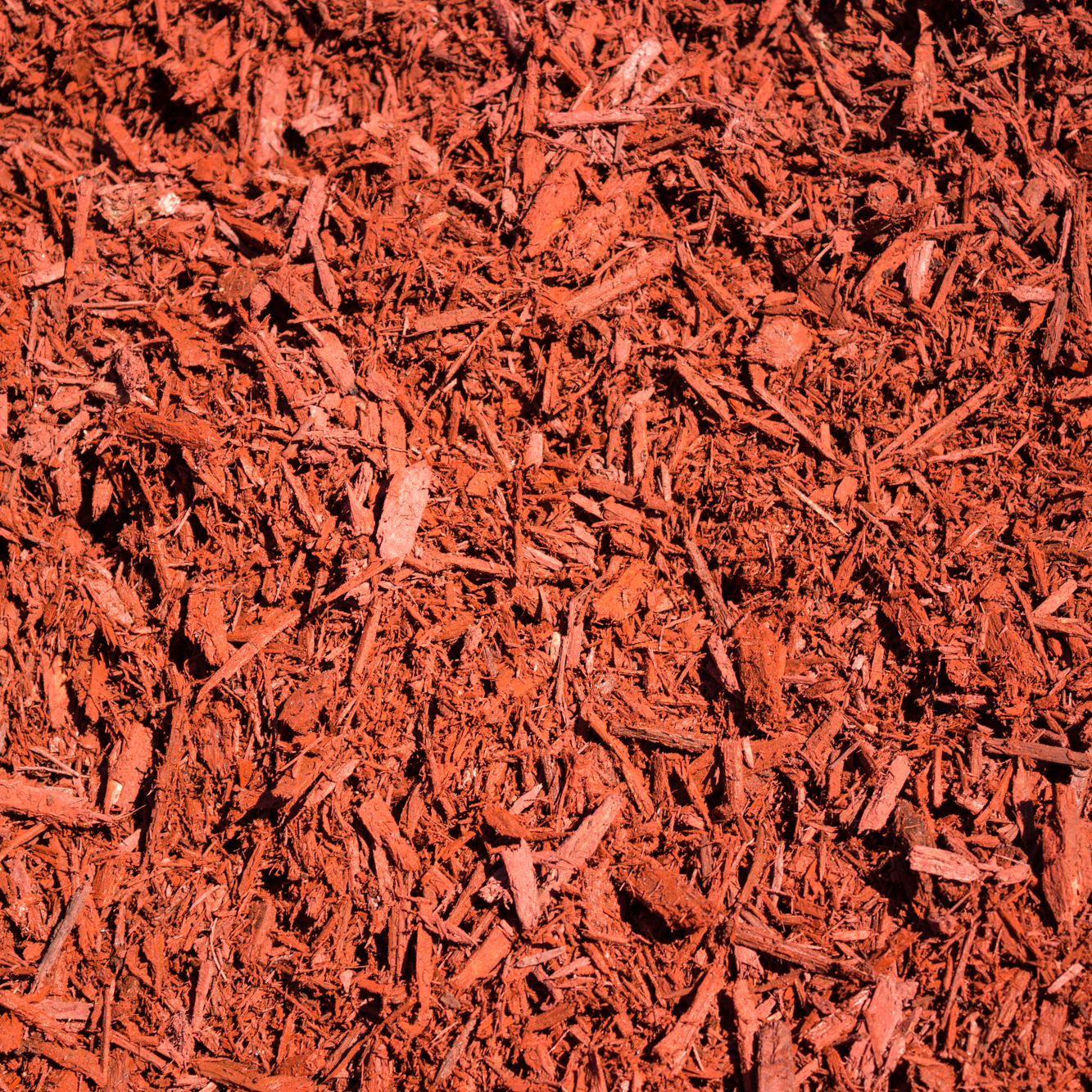 Palo Duro Red MULCH   Composition:  Freshly ground, it is a blazing red color.   Advantages:  Its retains soil moisture, inhibits weed growth, assists in prevention of soil erosion, light and easy to spread, provides a rich manicured look to your landscape, ground on site, and is fresh material.   Applications:  Flowerbed and garden top dressing.   Special Notes:  Spread 3-4 inches.    $35.00 Per Cubic Yard      $4.50 Per 2 Cubic Foot Bag