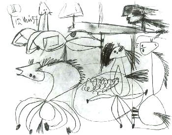 Composition Study for Guernica  (III) (1937), Pablo Picasso