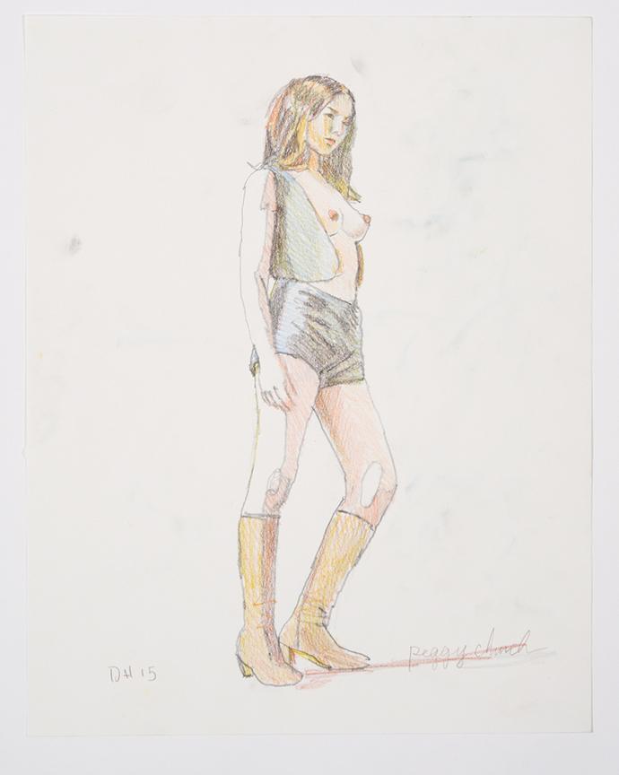 Duncan Hannah, Peggy Church, 2015, 11 x 14 inch, color pencils on paper
