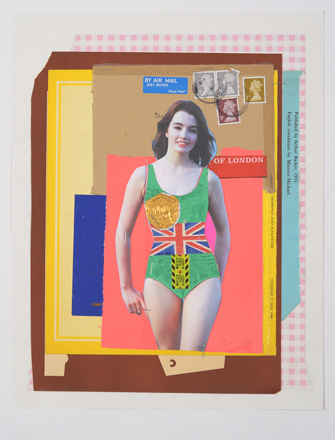 Duncan Hannah, Of London, 2010, 11 x 14 collage on paper