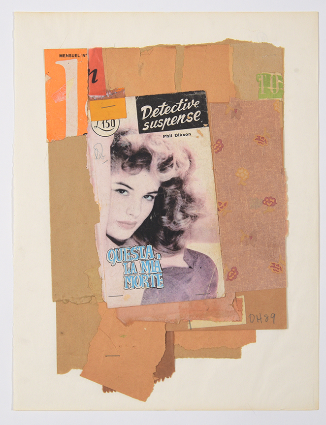 Duncan Hannah, Detective suspense, 1989, 11 x 14 collage on paper