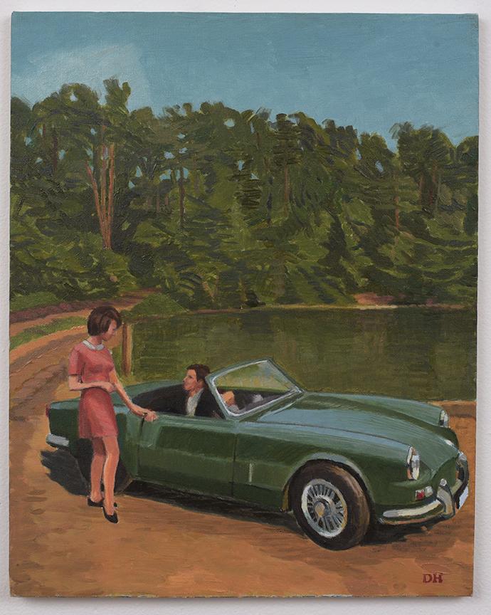 Duncan Hannah, Stranded, 2002, 20 x 32 inches, Oil on canvas