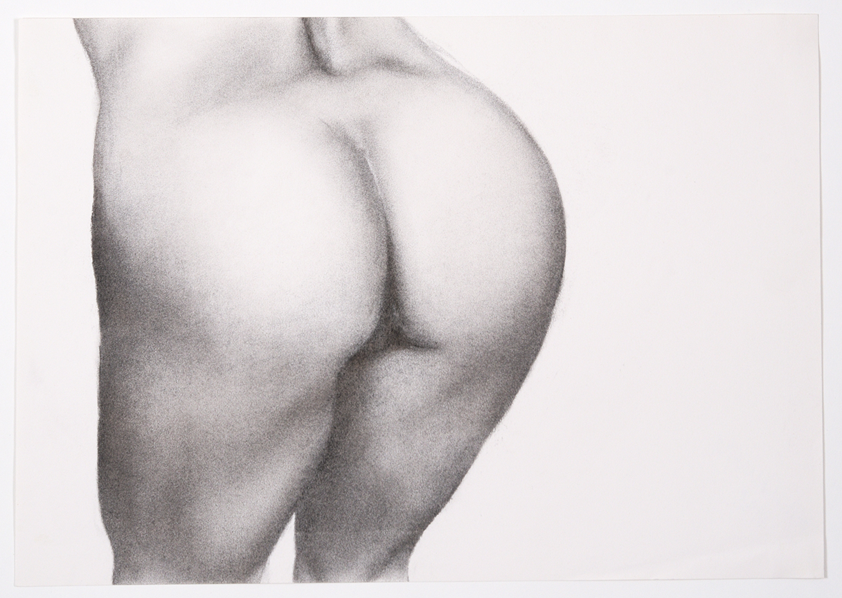 Gillian Carnegie, Butt, 1998, 11.5 x 17 inch, graphite on paper signed